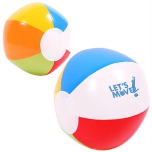 Classic Inflatable Fun 6 Inch Multi Colored Beach Ball