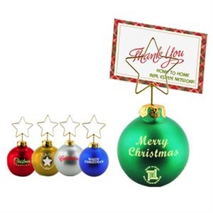 Christmas Ornament Shaped Memo Clip