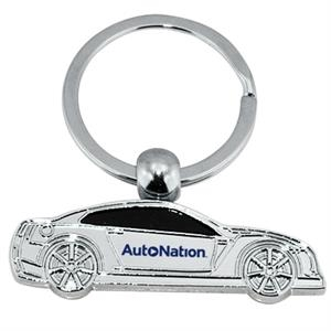 Car Shaped Key Ring With Blacked Out Windows