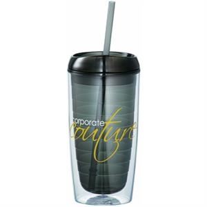 Vortex - Double-wall Acrylic 16 Oz Tumbler With Push On Thumb-slide Lid