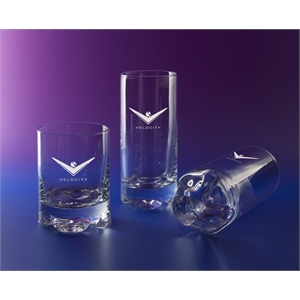 Mirage (r) - Set Of 2 - On The Rocks Glass Has An Eye-catching Design Set Apart By Its Distinctive Sham