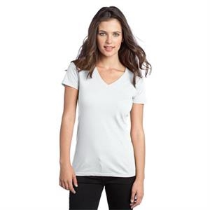 District (r) -  X S- X L White - Junior Concert V-neck Tee That Rocks With Comfortable Softness