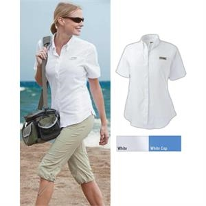 Tamiami (tm) Ii - S- X L - Women's 100% Polyester Short Sleeve Shirt With Feminine Seaming