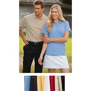 2 X L - Ladies' Pima Cotton Honeycomb Pique Polo Shirt With 4-button Placket