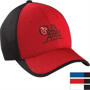 Performance Color Block Mesh Cap With Pre-curved Visor