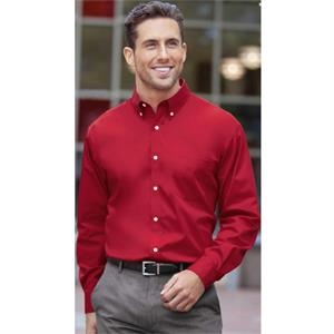 Classics - S- X L - Men's Long Sleeve Easy Care Woven Twill Shirt With Left Chest Pocket