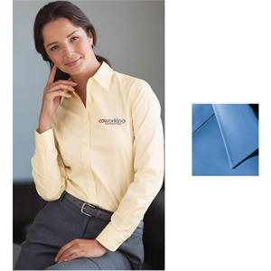 Freedom (r) - 2 X L - Ladies' Executive Pinpoint Oxford Shirt With Point Collar