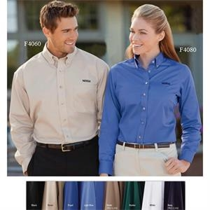 3 X L - Men's Wrinkle-resistant Twill Shirt With Horntone Buttons