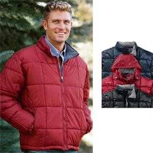 3 X L - Poly-filled Quilted Jacket With Elastic Cuffs And Adjustable Drawstring Hem