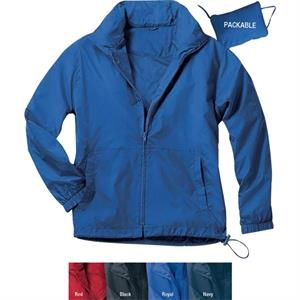 S- X L - Full-zip Nylon Anorak Jacket, Fits Into A Travel Pouch