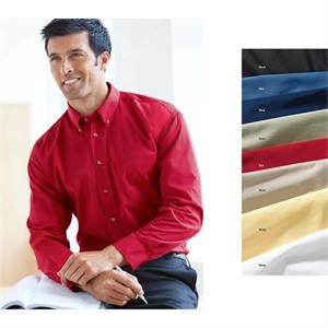 S- X L - Men's Easy Care Long-sleeve Shirt With Double-pleated 3-button Cuffs. *promo*