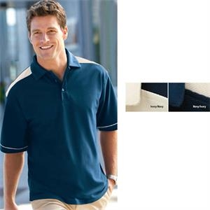 S- X L - Men's Mini Texture Solarshield Performance Wear Polo Shirt