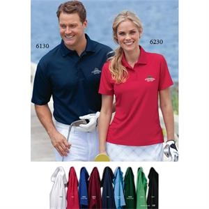 S- X L - Men's Solid Pique Polo Shirt With Poly-spandex Welt Collar