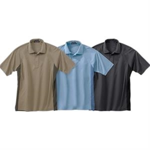 S- X L - Men's Tonal Athletic Polo Shirt With Hemmed Raglan Sleeves