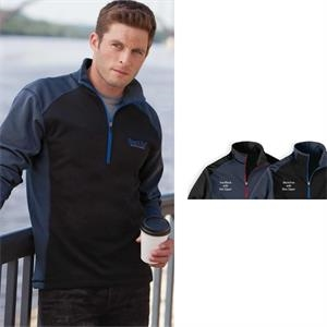 Sport (tm) - 2 X L - Men's Microfleece Color Block Half-zip Pullover With Droptail Rounded Hem