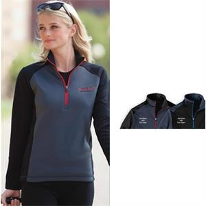 Sport (tm) - 2 X L - Ladies' Microfleece Color Block Half-zip Pullover With Hemmed Sleeves