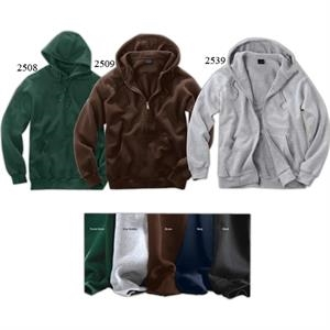 Signature Series (r) - 3 X L - Full-zip Thermal-lined Hooded Sweatshirt With Kangaroo Pouch Pocket