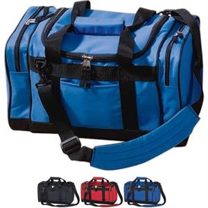 "Sport Bag With Two Zippered 2"" Side Gusset Pockets"