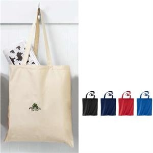 "Cotton Canvas Tote Bag With Self-fabric 22"" Handles"