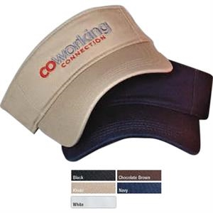 Washed Cotton Visor With Velcro (r) Closure