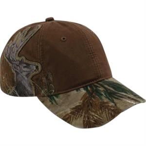 Authentic Wildlife Series (tm) - Buck - Low-profile Cap With Realtree (r) Ap Hd (r) Camouflage Pattern Visor