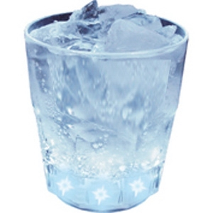 Light Up Cup - 10 oz - Fluted - Clear Cup - 5 White LEDs