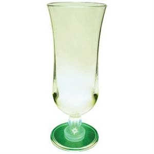 Light Up Glass - Hurricane - 15 oz - Clear with Green LED