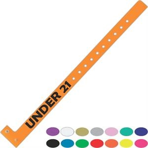 "Printed Narrow Plastic Wristband, 5/8"" X 11"""