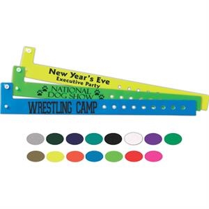 "Printed Narrow Vinyl Wristband, 13/16"" W X 9 7/8"" L"