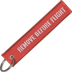 "2 Sided Embroidery - Heavy Weight Fully Surged Flight Crew Tag, 5"" X 1"""