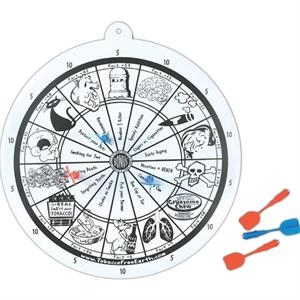 "Printed Dart Board Set, 11 1/2"" Diameter"