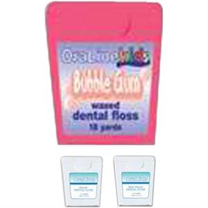 Nylon Bubble Gum Flavored Dental Floss, 12 Yds. In A White Dispenser