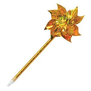 Gold - Pin Wheel Ballpoint Pens