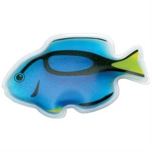 Blue Fish Shaped Gel-filled Chill Patch