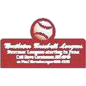 Peel-n-stick (r) - Printed - Baseball - A Calendar Is The Single Most Powerful Promotional Item On The Market