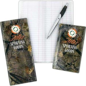 "6"" X 3 3/8"" - Durable Camouflage Tally Book With Hard Bound Cover"