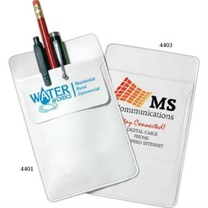 "3"" Flap - White Pocket Protector, Optimal Organization At Your Fingertips"
