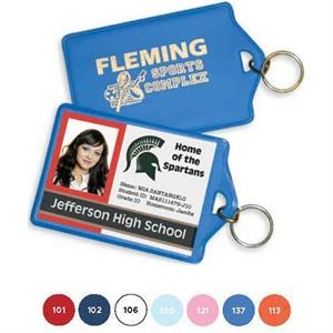 Identification Holder/key Ring, Clear View Pocket Fits Employee Badges