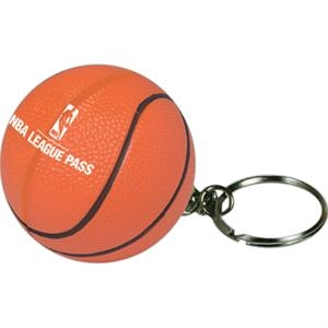 Squeezies (r) - Basketball Stress Ball With Key Holder