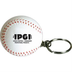 Squeezies (r) - Baseball Stress Reliever Ball With Key Holder