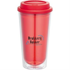 Kuta - 16 Oz. Double Wall Construction Tumbler. Bpa-free As Plastic With Polypropylene Lid