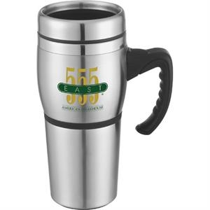 Antigua - 16 Oz Stainless Steel Travel Mug. Double-wall Construction