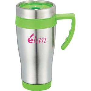 Seaside - 15-oz Travel Mug, Stainless Steel With Plastic Liner