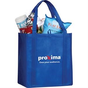 "Little Juno - 80g Non-woven Polypropylene Tote Bag, 22"" Double Reinforced Handles"