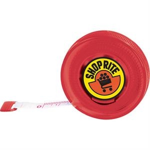 "Retractable, 60"" Polyester Tape Measure With Standard And Metric Measurements"