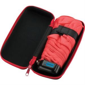 Folding 5-section Polyester Umbrella With Deluxe Zippered Carrying Case