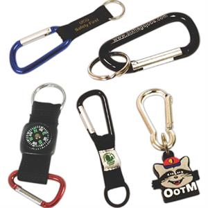 "2 3/8"" - Quality Anodized Aluminum Carabiner With Split Ring"