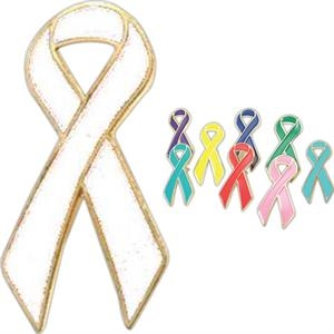 Pink Ribbon (breast Cancer) - Stock Awareness Ribbon Lapel Pin
