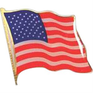 Screened American Flag - Patriotic Stock Lapel Pin