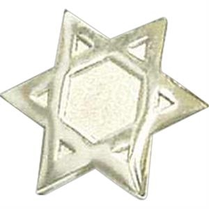 Silver Star Of David - Stock Lapel Pin